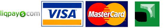 LiqPay, Visa, Mastercard, Privat24 etc.